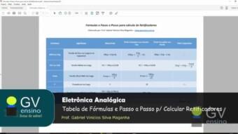 Eletrônica Analógica #68 – Tabela de Fórmulas e Passo a Passo de cálculos