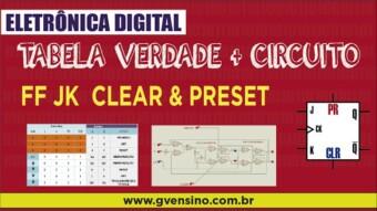Eletrônica Digital II: #24 CLEAR e PRESET – Tabela Verdade e Circuito Interno