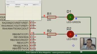 Curso CCS PIC C: Vendo a variável ao vivo no Proteus (Debug)